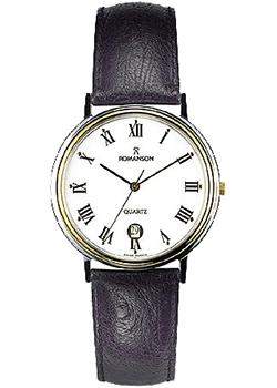 Romanson Часы Romanson TL0162SMC(WH). Коллекция Leather часы nixon time teller deluxe leather navy sunray brow