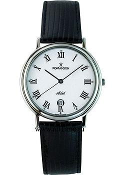 Romanson Часы Romanson TL0162SMW(WH). Коллекция Leather romanson rm 9239 lj wh