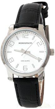 Romanson Часы Romanson TL0334LW(WH). Коллекция Leather romanson romanson em 5164 lw wh