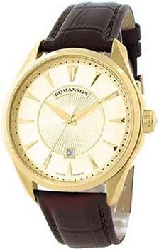 Romanson Часы Romanson TL0337LG(GD). Коллекция Leather