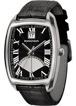 Romanson Часы Romanson TL0394MW(BK). Коллекция Gents Fashion romanson часы romanson dl9198smw bk коллекция gents fashion