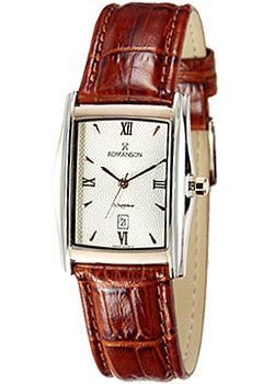 Romanson Часы Romanson TL1131SMW(WH). Коллекция Leather romanson tl 6522c mc wh