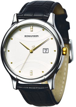 Часы Romanson Leather TL1213SMC(WH)