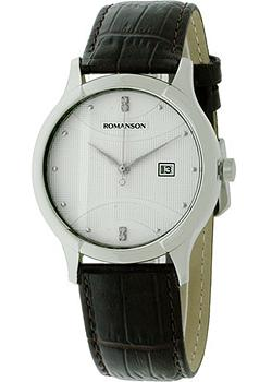 Romanson Часы Romanson TL1213SMW(WH). Коллекция Leather romanson rl0359lr wh romanson