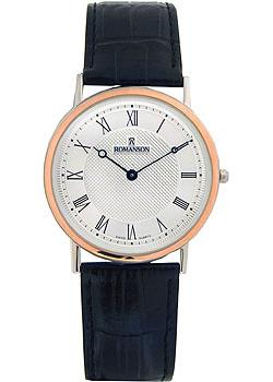 Romanson Часы Romanson TL5110SMJ(WH). Коллекция Leather romanson romanson rl 3239 lc wh bn