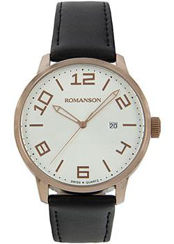 Romanson Часы Romanson TL8250BMR(WH). Коллекция Leather romanson tm0334mj wh