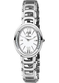 Titoni Часы Titoni TQ-42921-S-DB-361. Коллекция Mademoiselle by Titoni titoni часы titoni 23730 s 271 коллекция impetus