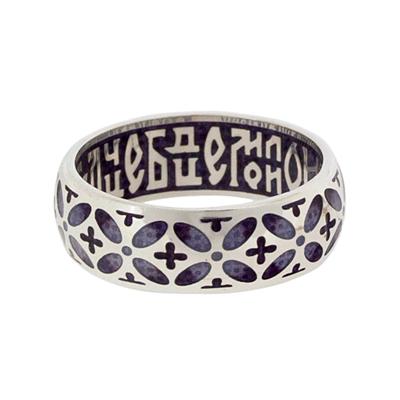 Серебряное кольцо Ювелирное изделие SW_3.5.17 сборник святый княже александре моли бога о нас