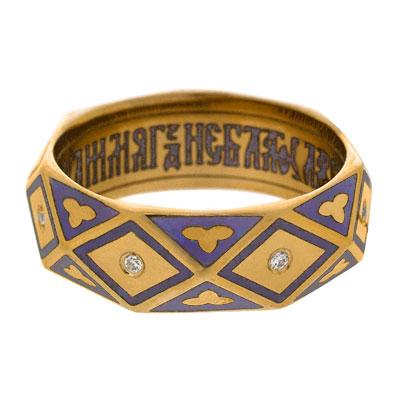 Серебряное кольцо Ювелирное изделие V_03.037.5.39 отсутствует псалтирь пророка и царя давида