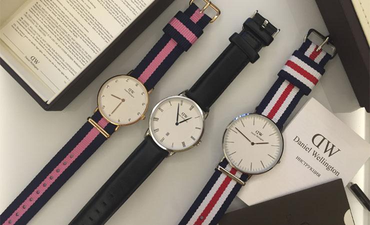 наручные часы daniel wellington меняющие цвет оптом нас