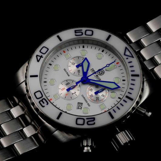 Купить Швейцарские наручные мужские часы Deep Blue SRCWA. Коллекция Sea Ram Chronograph в интернет