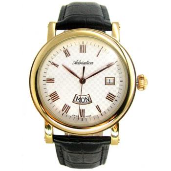 Швейцарские наручные  мужские часы Adriatica 1023.1233Q. Коллекция Gents
