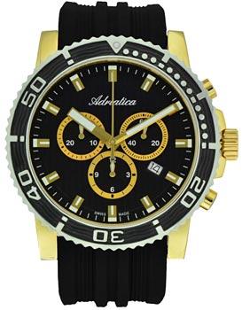 Швейцарские наручные мужские часы Adriatica 1127.1214CH. Коллекция Chronograph