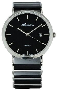 Швейцарские наручные  мужские часы Adriatica 1255.E114Q. Коллекция Ceramic Bestwatch 8700.000