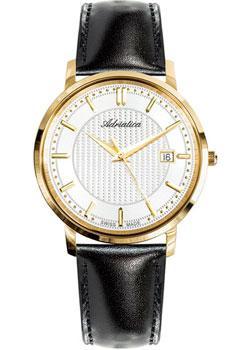 Купить Швейцарские наручные мужские часы Adriatica 1277.1213Q. Коллекция Twin
