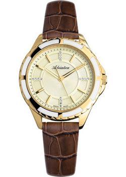 Швейцарские наручные  женские часы Adriatica 3434.1211Q. Коллекция Zirconia