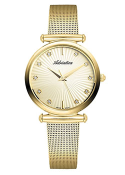 Швейцарские наручные  женские часы Adriatica 3518.1191Q. Коллекция Ladies