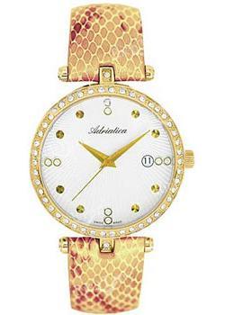 Швейцарские наручные  женские часы Adriatica 3695.1243QZ. Коллекция Zirconia