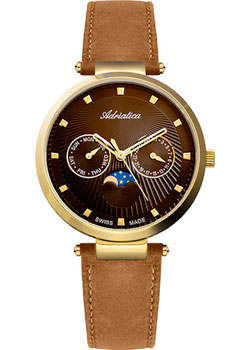 Швейцарские наручные  женские часы Adriatica 3703.124GQF. Коллекция Multifunction
