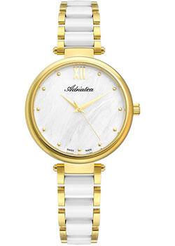 Швейцарские наручные  женские часы Adriatica 3705.D18FQ. Коллекция Ceramic