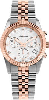 Швейцарские наручные женские часы Adriatica 3809.R143CH. Коллекция Chronograph