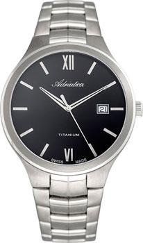 Швейцарские наручные  мужские часы Adriatica 8265.4164Q. Коллекция Titanium от Bestwatch.ru