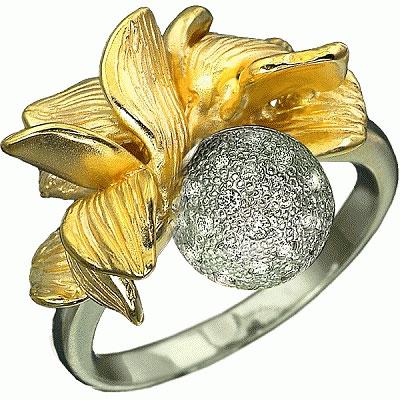 """Золотое кольцо  """"Солнечная фантазия """" - Ювелирные украшения и наручные..."""