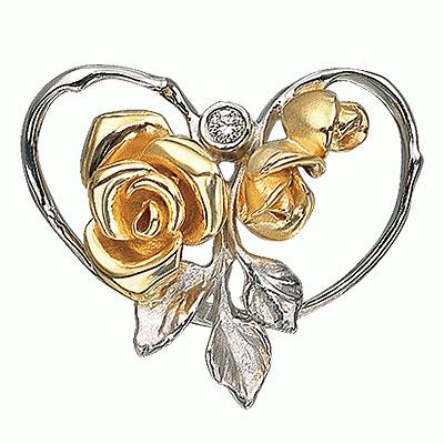 """Золотая подвеска  """"Роза """" - Ювелирные украшения и наручные часы в магазине..."""