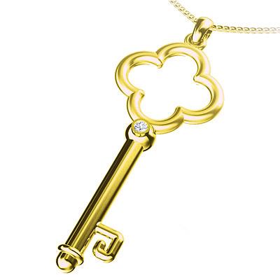 Золотые подвески Ключик - выбор для женщины.