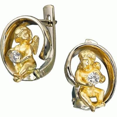 Ювелирное изделие S-24021 ювелирное изделие золотые серьги  01c674699