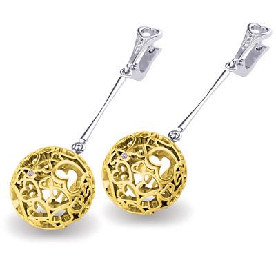 Золотые серьги S-41001
