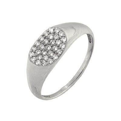 Купить Золотое кольцо A1006101651, Кольцо из белого золота 585 пробы. Вставки: 29 Бриллиант. Кр 57 90-120 3/5а (0.2510ct). Средний вес: 2.79., Ювелирное изделие
