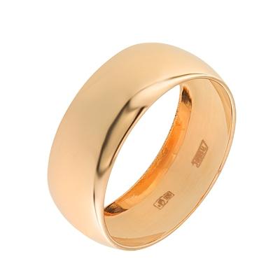 Кольцо из красного золота 585 пробы. Вставки:Без камней . Средний вес: 3.84. - Золотое кольцо  A1100600