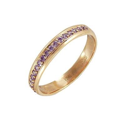 Купить Золотое кольцо A11023025, Кольцо из красного золота 585 пробы. Вставки: 19 Фианит Кр д.1, 25 (0.2850ct). Средний вес: 3.13., Ювелирное изделие