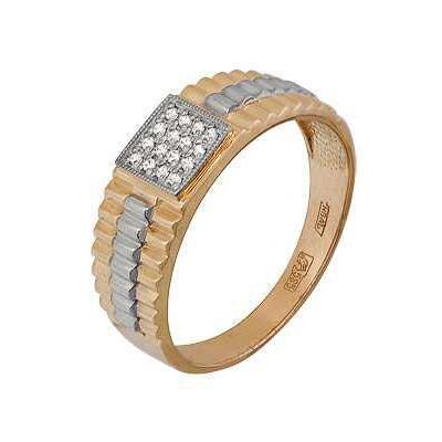 Купить Золотое кольцо A11024423, Кольцо из красного золота 585 пробы. Вставки: 16 Фианит Кр д.1, 0 (0.1450ct). Средний вес: 3.88., Ювелирное изделие