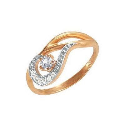 Описание: зачем бриллиант внутри кольца. Кольцо из красного золота 585 пробы. . Вставки: 1 Фианит Кр д.2