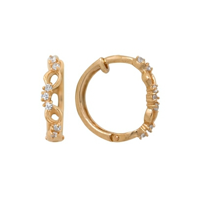 Золотые серьги  A1200011319