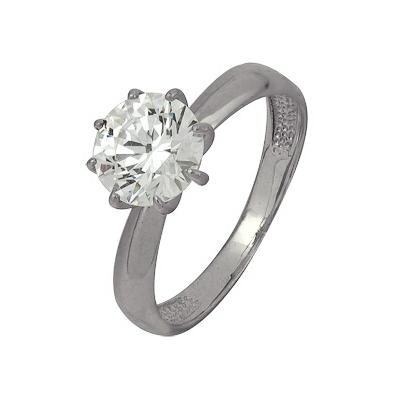 Купить Золотое кольцо A1206101957, Кольцо из белого золота 585 пробы. Вставки: 1 Фианит SWAROVSKI Кр д.8, 0 (3.7250ct). Средний вес: 3.12., Ювелирное изделие