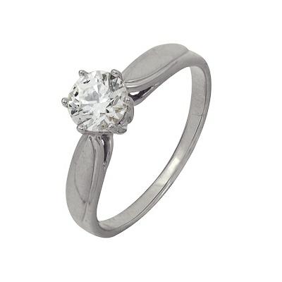 Купить Золотое кольцо A1206102107, Кольцо из белого золота 585 пробы. Вставки: 1 Фианит SWAROVSKI Кр д.6, 0 (1.7000ct). Средний вес: 3.44., Ювелирное изделие