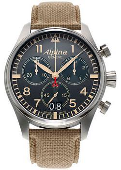 Швейцарские наручные мужские часы Alpina AL-372BGR4S6. Коллекция Aviation