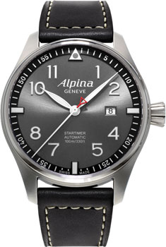 Швейцарские наручные мужские часы Alpina AL-525GB4S6. Коллекция Pilot