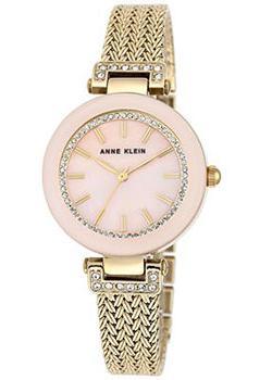 fashion наручные  женские часы Anne Klein 1906PMGB. Коллекция Crystal.
