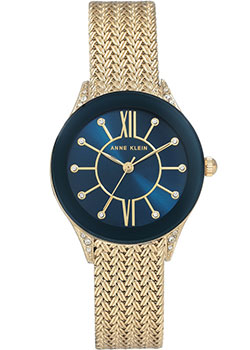 fashion наручные  женские часы Anne Klein 2208NVGB. Коллекция Crystal.
