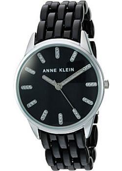 fashion наручные  женские часы Anne Klein 2617BKSV. Коллекция Crystal