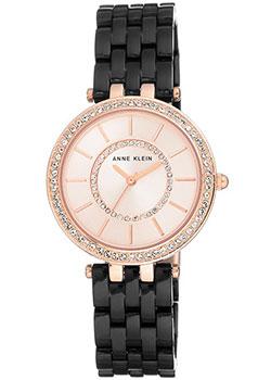 fashion наручные  женские часы Anne Klein 2620BKRG. Коллекция Crystal