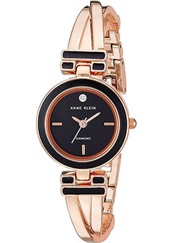 fashion наручные  женские часы Anne Klein 2622BKRG. Коллекция Diamond