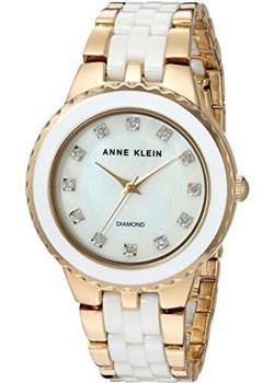 fashion наручные  женские часы Anne Klein 2712WTGB. Коллекция Diamond