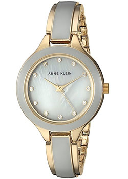 fashion наручные  женские часы Anne Klein 2934GYGB. Коллекция Crystal