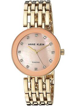 fashion наручные  женские часы Anne Klein 2944PMGB. Коллекция Diamond