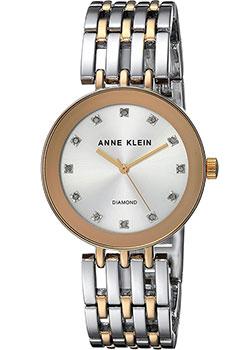 fashion наручные  женские часы Anne Klein 2945SVTT. Коллекция Diamond